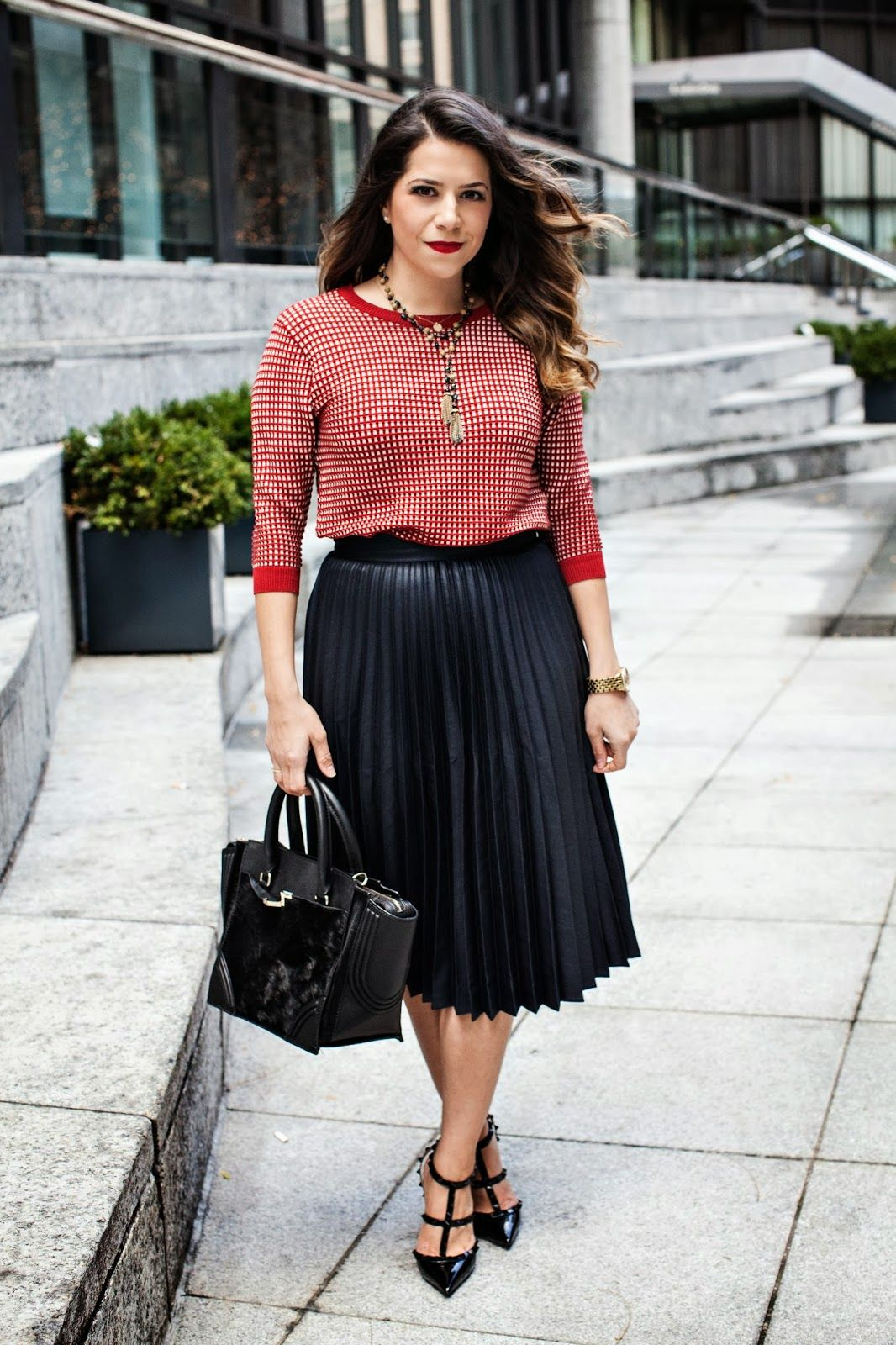 Corporate Catwalk - Fashion Blog: Wool Coat & Grey Midi Skirt | A ...