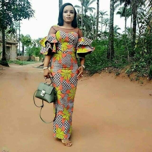 African fashion, dashiki print gown, hand made dre