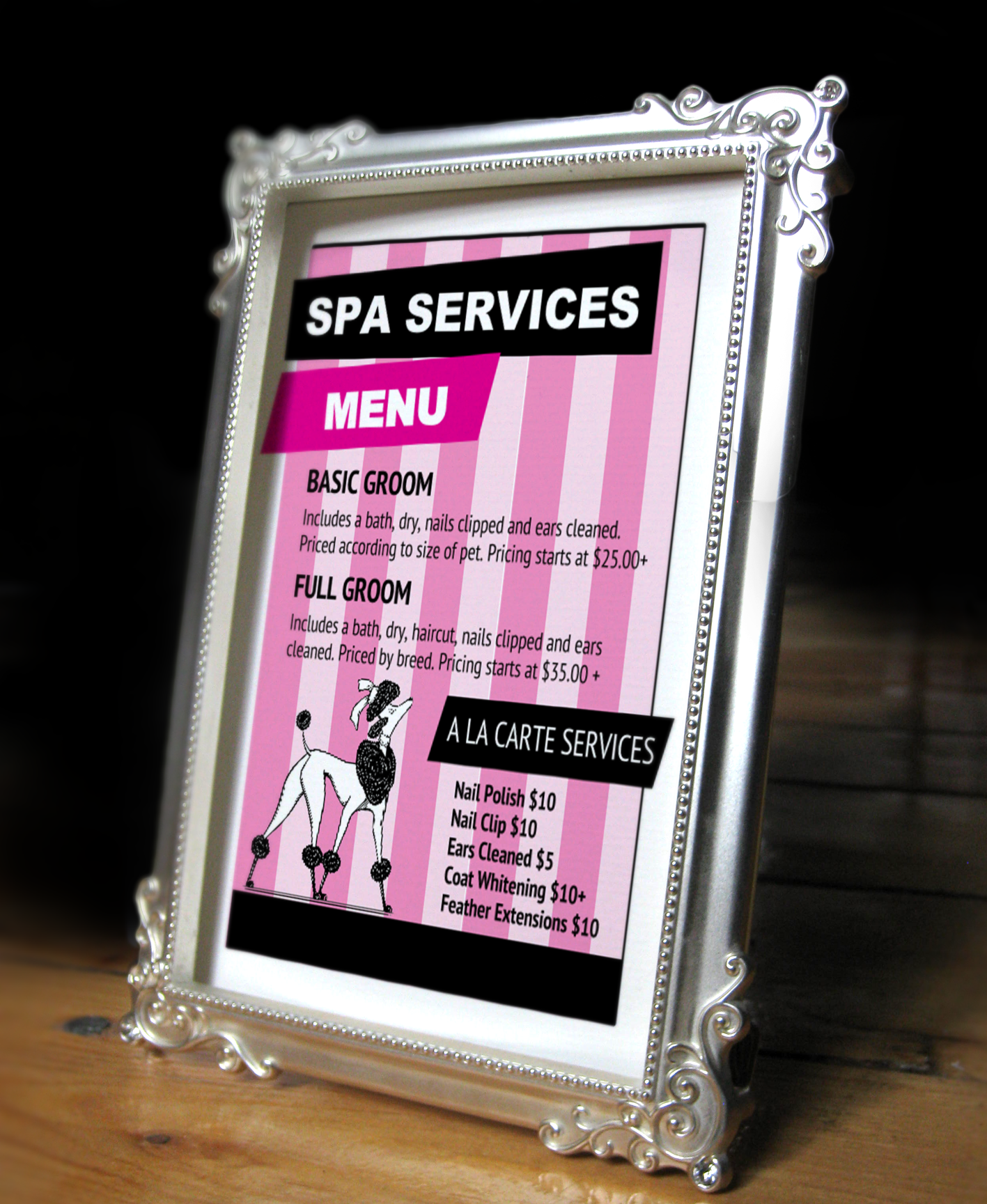 Pet Grooming Services Price List Templates From HttpWww