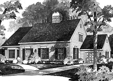 Plan 81045w Expandable Cape With Two Options House Plans With Photos Colonial House Plans Architectural Floor Plans