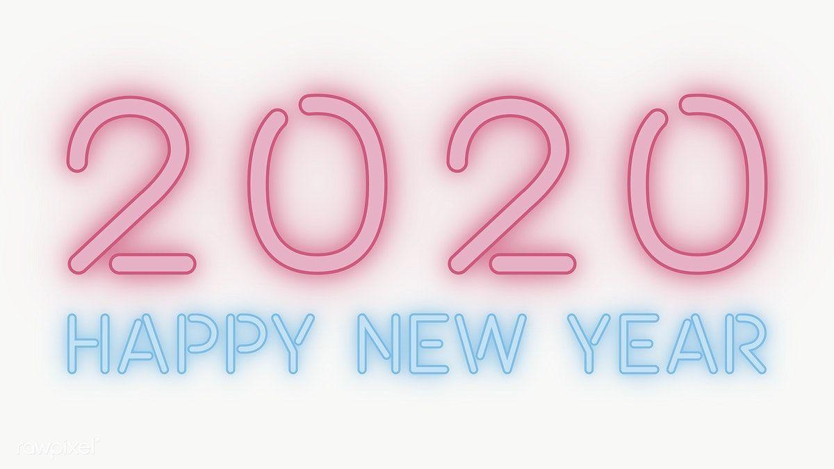 Download Premium Png Of Neon Happy New Year 2020 Wallpaper Transparent Png Happy New Year Png Happy New Year 2020 Happy New Year