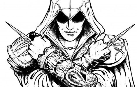 Assassins Creed Coloring Page Crafts Pinterest Assassins Creed