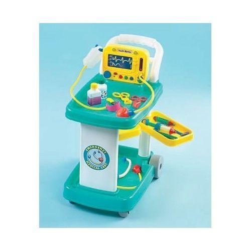 Farm Veterinary Play Doctor Kits Kids Doctor Set Medical Cart