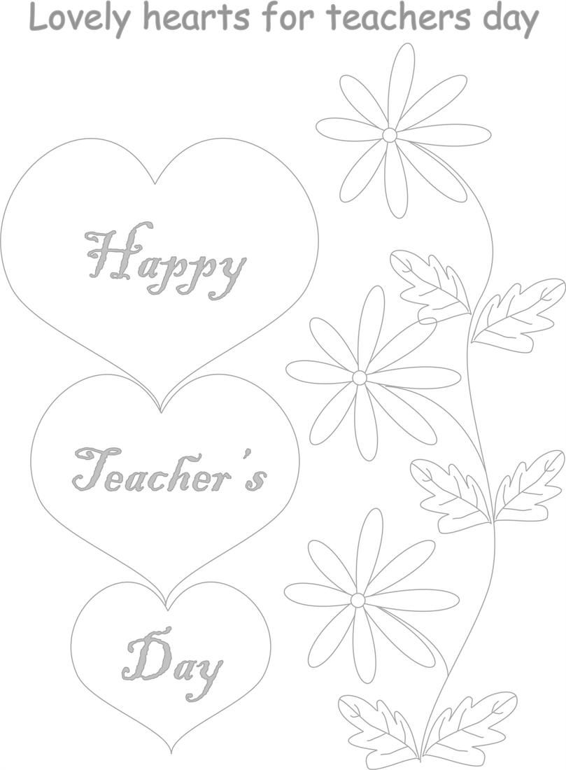 Teachers Day Coloring Worksheets For Kids 2 Teachers Day Card Design Card Drawing Free Kids Coloring Pages
