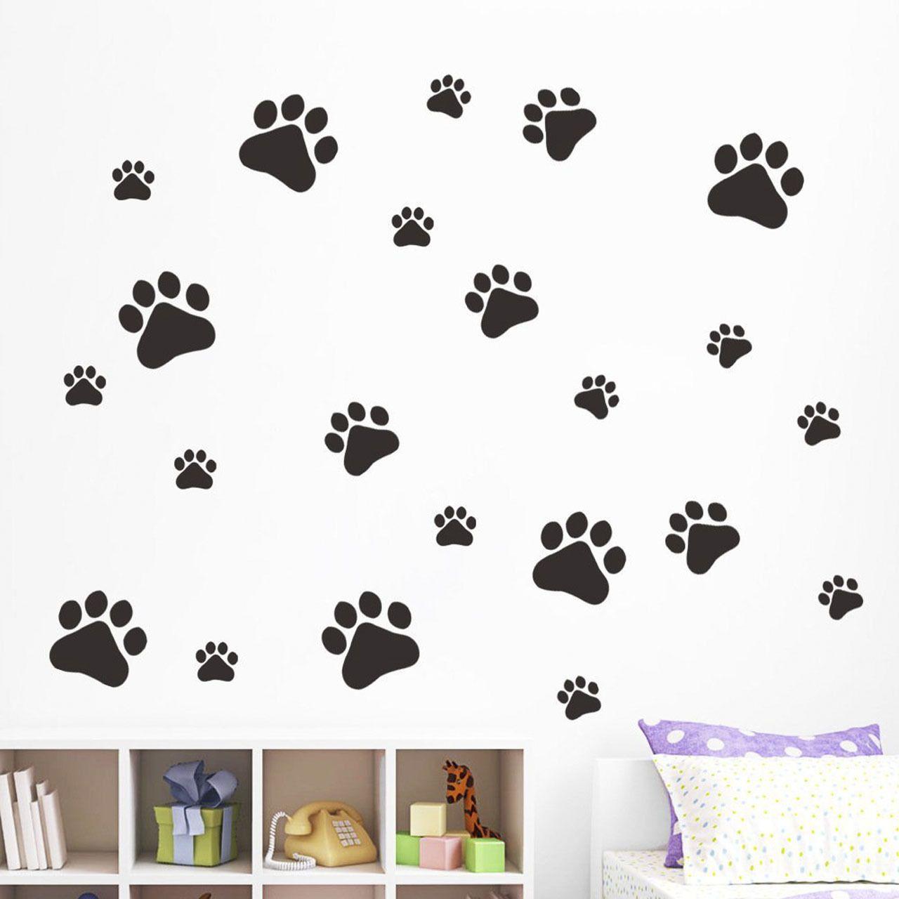 4 56 Black 22 Dog Cat Paw Print Decors Car Wall Sticker Home Wheelie Bin Decal Ebay Home Garden Kids Room Decals Wall Stickers Home Sticker Decor [ 1280 x 1280 Pixel ]