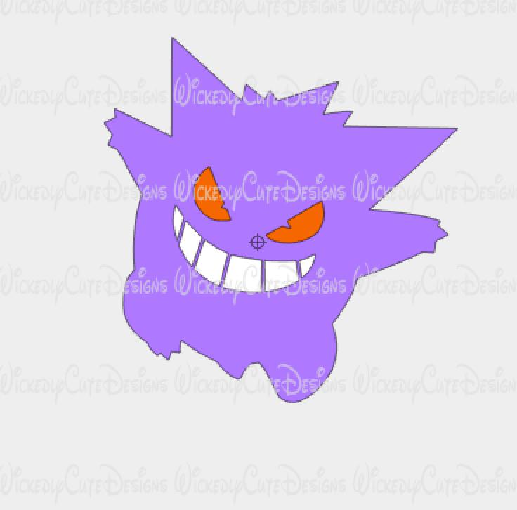 Evil Pokemon SVG, DXF, EPS, PNG Digital File