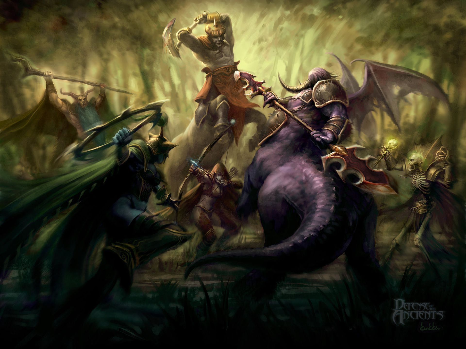 Video Game Dota Defense Of The Ancients Allstars World Of