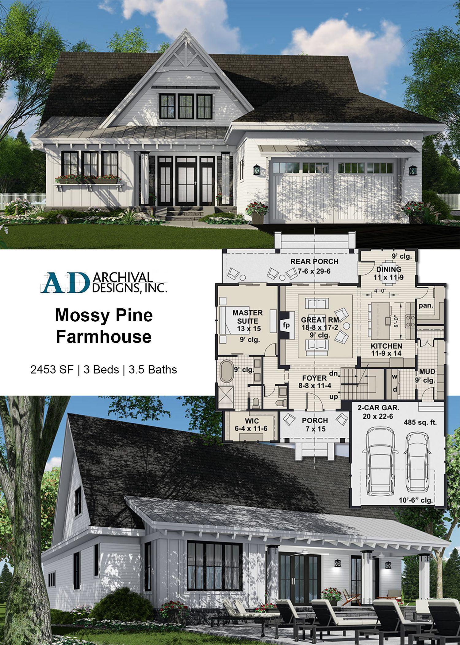 Mossy Pine Farm House Plan Craftsman House Plans Small Farmhouse Plans Farmhouse Plans