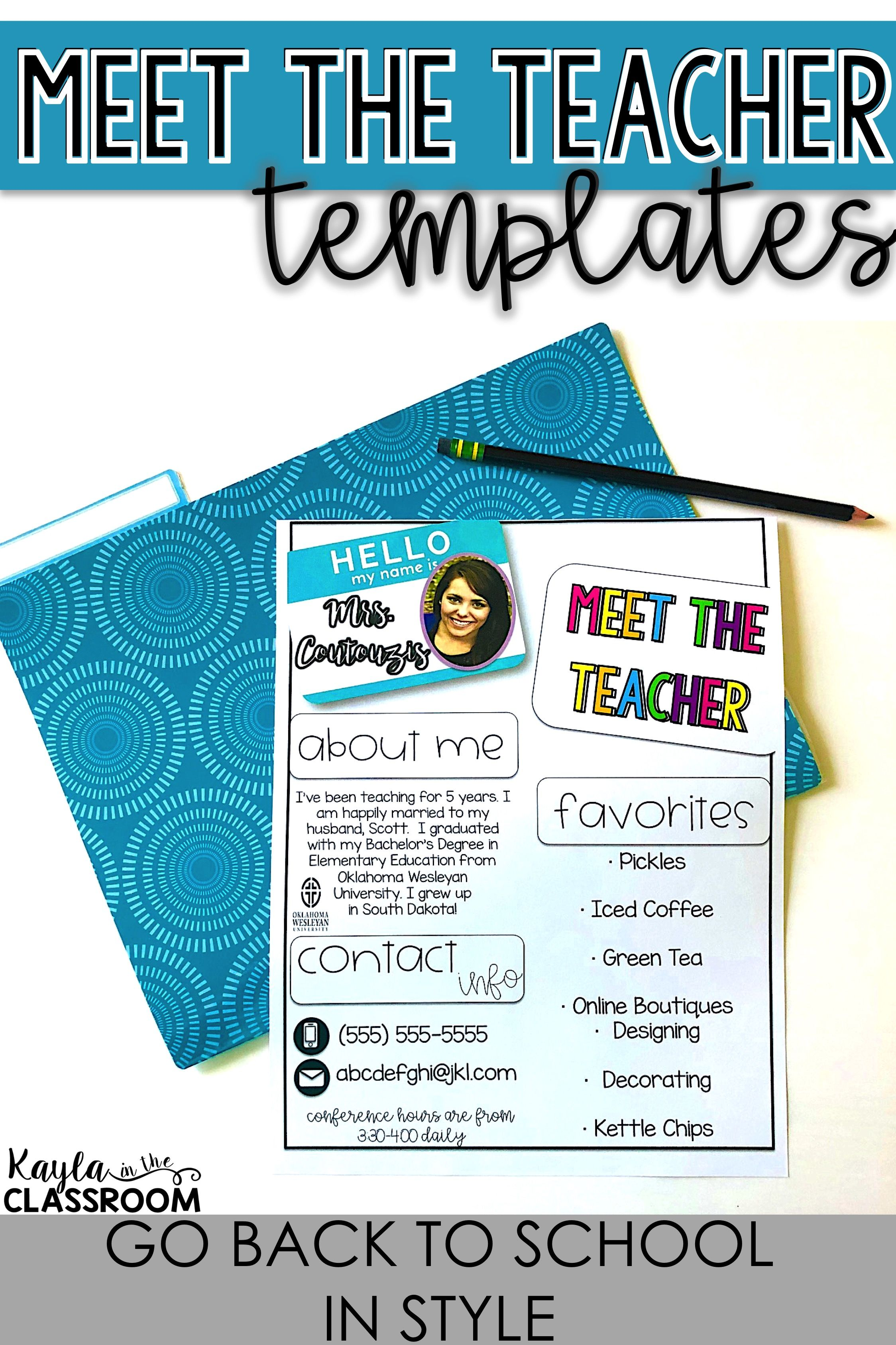 Editable Meet The Teacher Templates