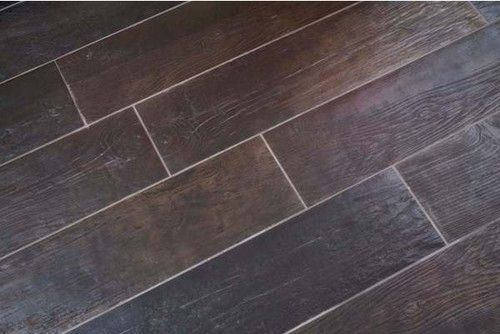 Provenza Lignes Wood Look Porcelain TIle Floor Tiles Mosaic - Dark brown tile that looks like wood