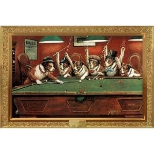 Billiard Room Decor | DOGS PLAYING POOL POSTER Billiards Pool Game Room  Decor | Shop .