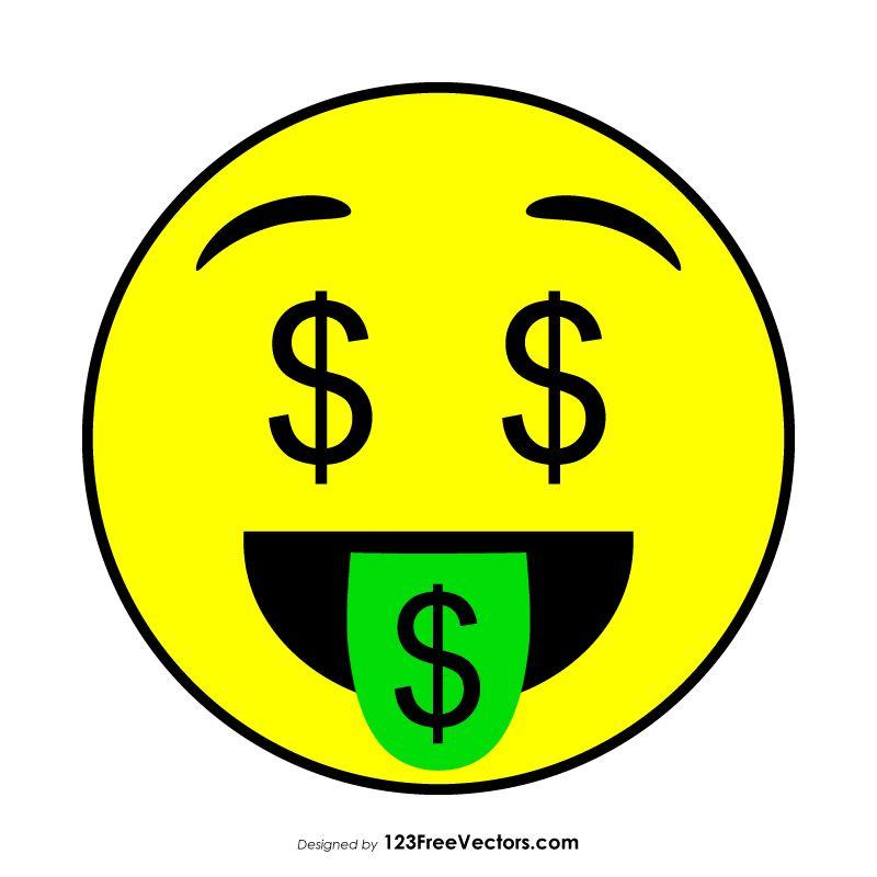 Money Mouth Face Emoji Emoji Graphic Image Free Vector Art