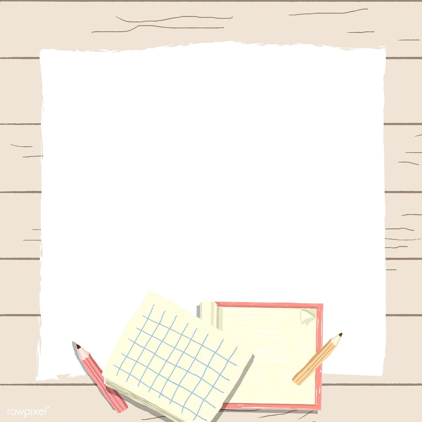Download Premium Vector Of Blank Notebook On A Wooden Background Vector Powerpoint Background Design Paper Background Design Wooden Background