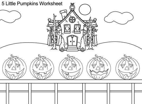 Five Halloween Pumpkins On Coloring Page Download Print Online Coloring Pages For Free Co Pumpkin Coloring Pages Halloween Preschool Five Little Pumpkins