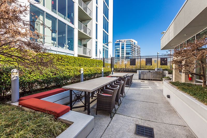 Outdoor Seating Is Perfect For Enjoying The Weather Outdoor Seating High Rise Apartments Swimming Pools