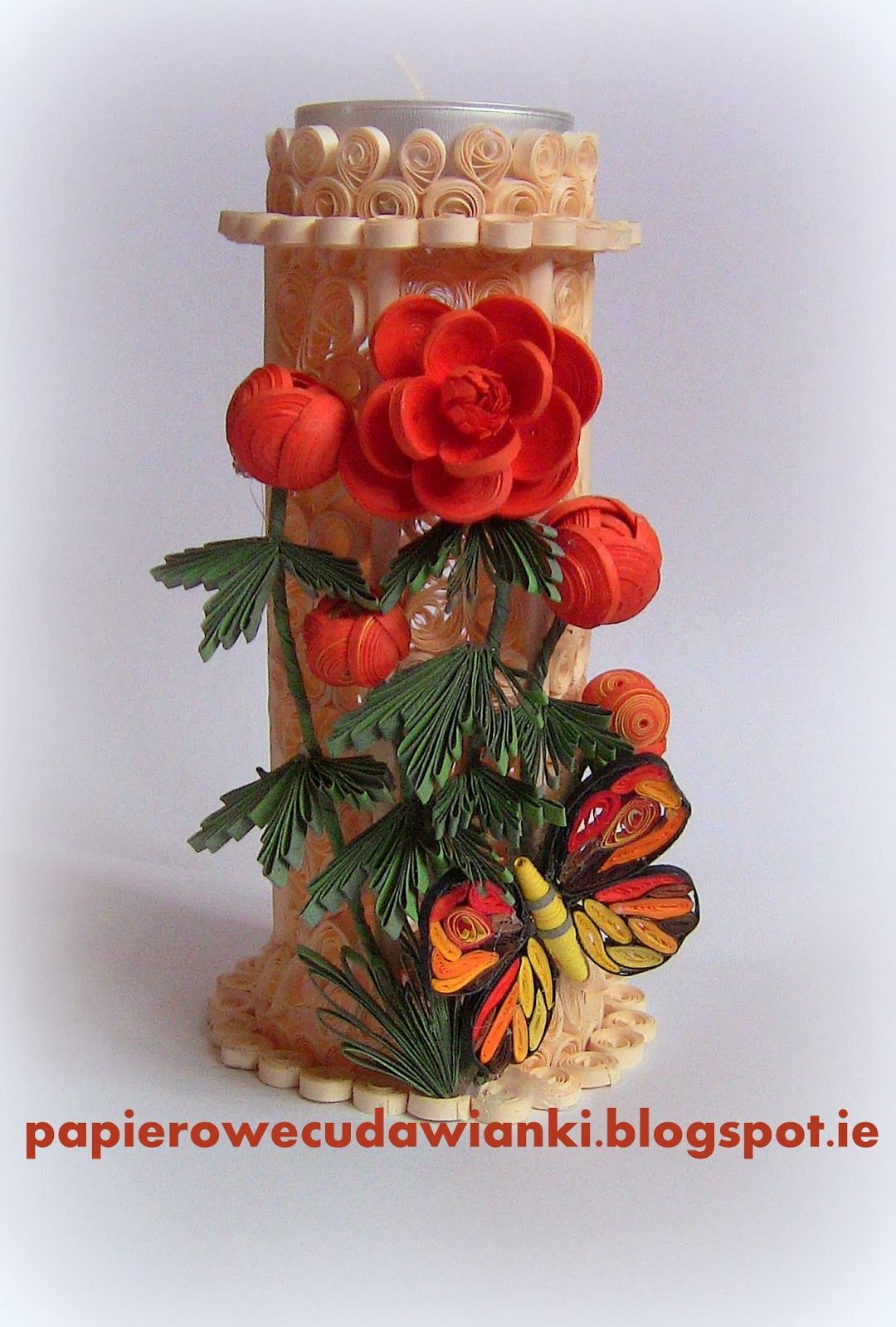 Quilling candlestick