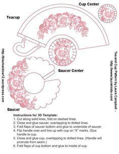 Rose Teacup And Saucer