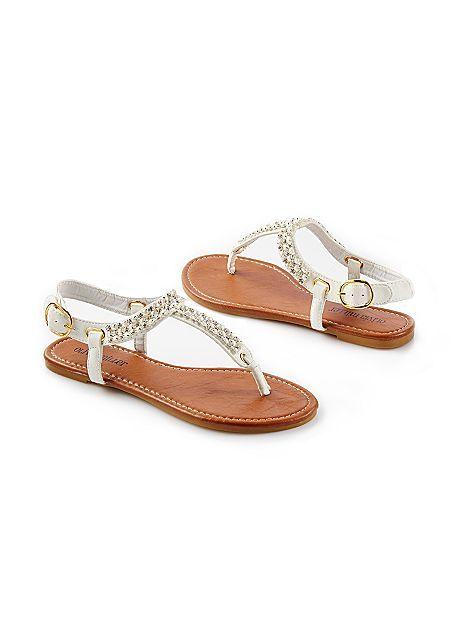 2ecf48e4f00e14 WHITE Rhinestone Sandal from VENUS