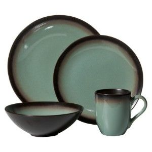 home thira teal dinnerware set i love the teal and brown combo of these plates plus theyu0027re round eric hates square plates - Stoneware Dishes