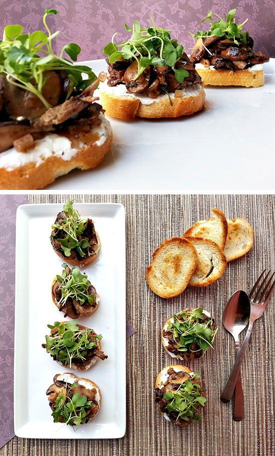 wild mushroom bruschetta click for 30 easy holiday appetizer recipes easy christmas appetizers for a party - Pinterest Christmas Appetizers