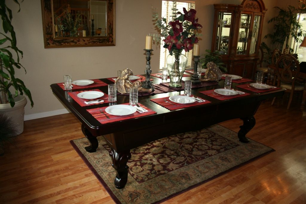 Stylish Decoration Dining Room Pool Table Combo Chic