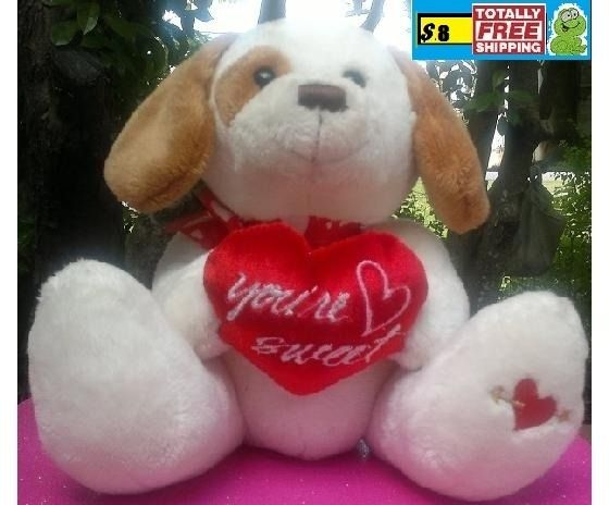 "Golden Bear Company Plush Valentine ""You're Sweet"" Dog $8.50"