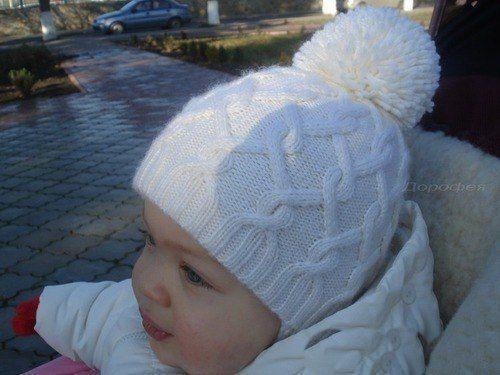 Детская зимняя шапочка с ушками. Как связать шапочку для ребенка спицами 6483bdb26dd60