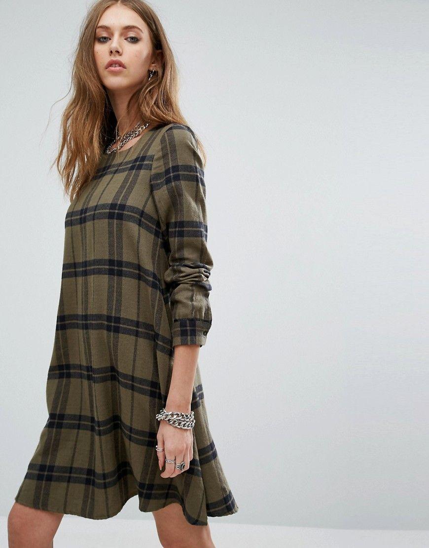 3366f8f5d62 Buy it now. Noisy May Erik Swing Dress - Green. Dress by Noisy May ...