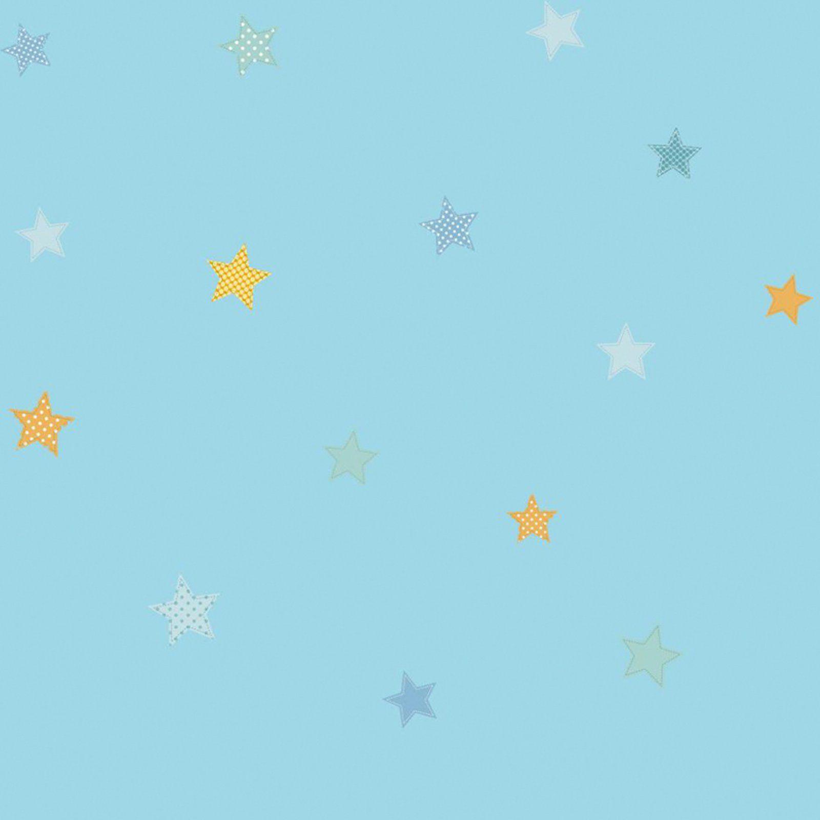 York Wallcoverings Peek-A-Boo Starry Sky Wallpaper Blue