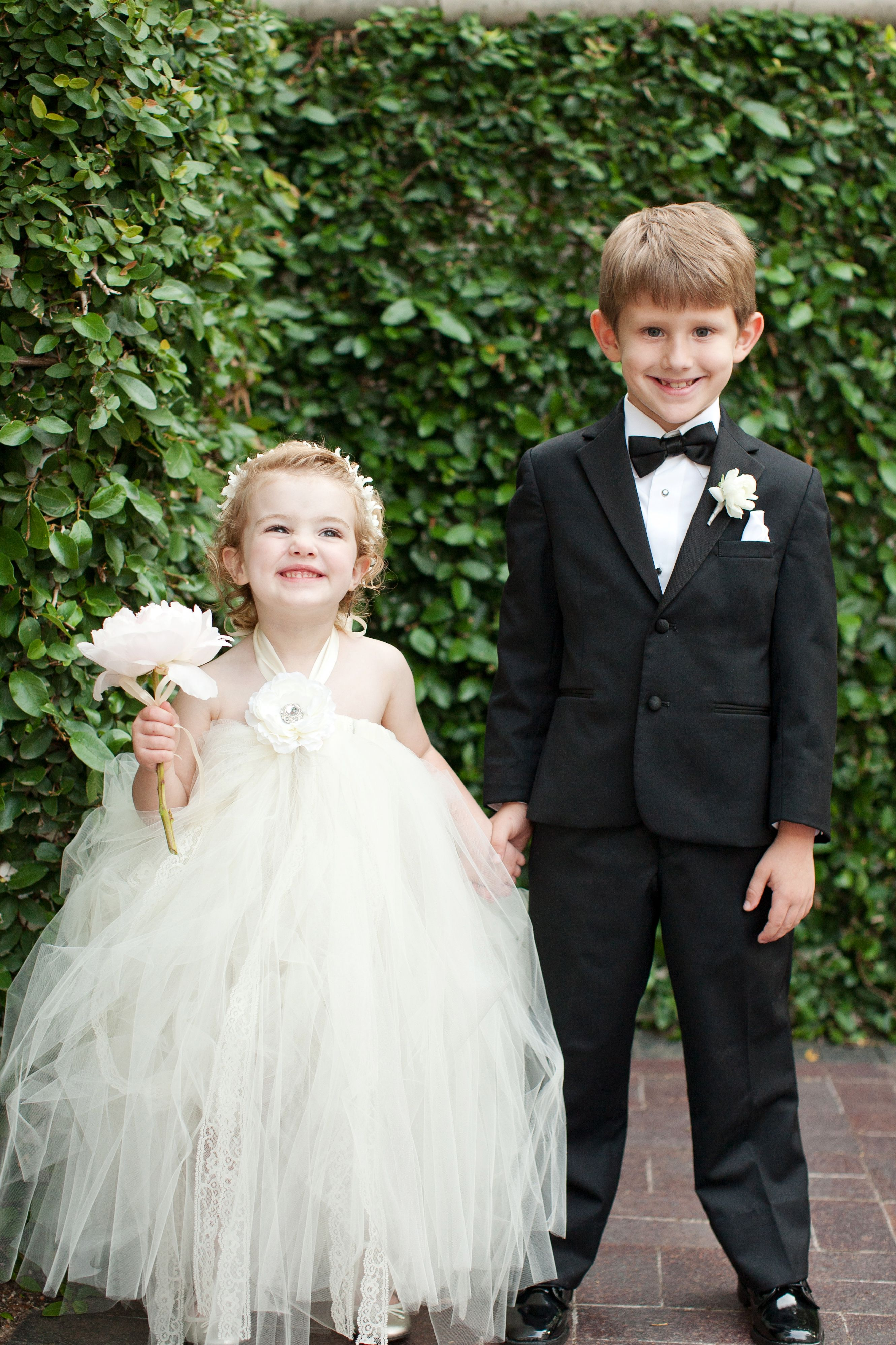 Precious Char and Grant as flower girl and ring bearer.