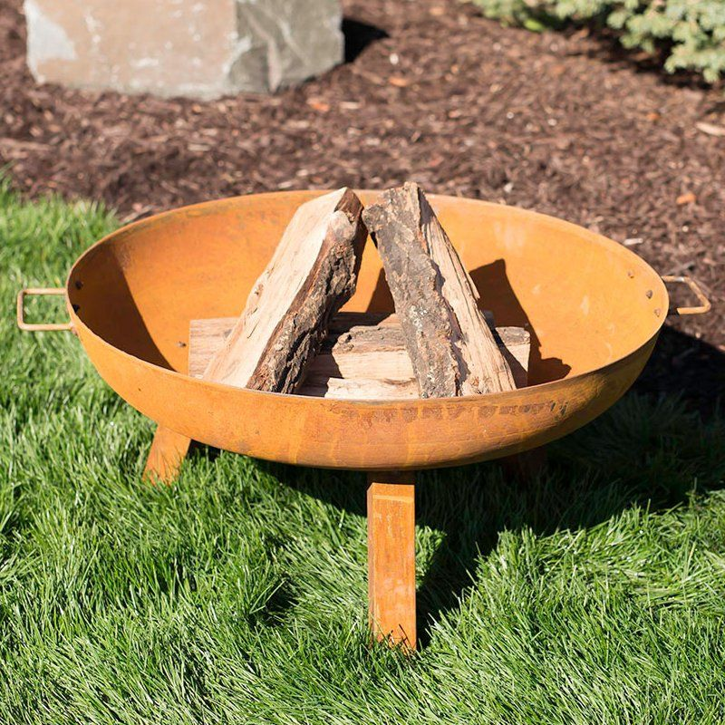 Tidworth Bowl Cast Iron Wood Fire Pit Decoration Brasero