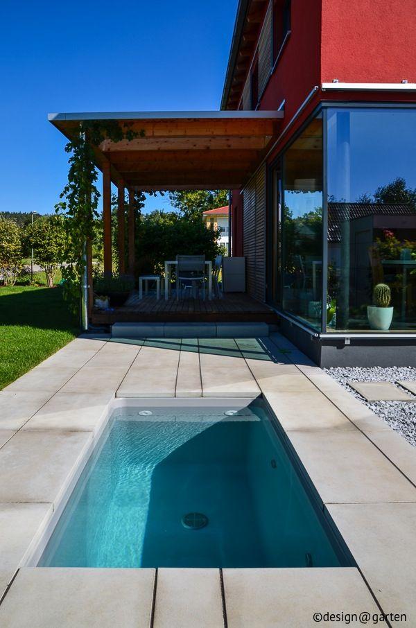 saunatauchbecken im garten | minipool | pinterest | garten, Garten und Bauen