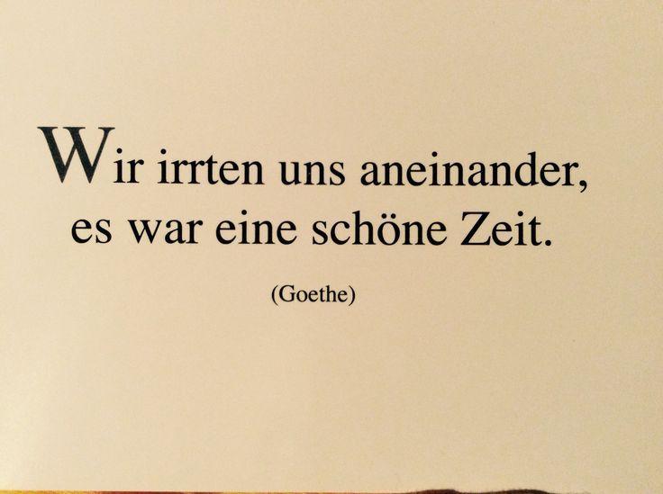 Wir Irrten Uns Aneinander Schoner Spruch Goethe Postkarte