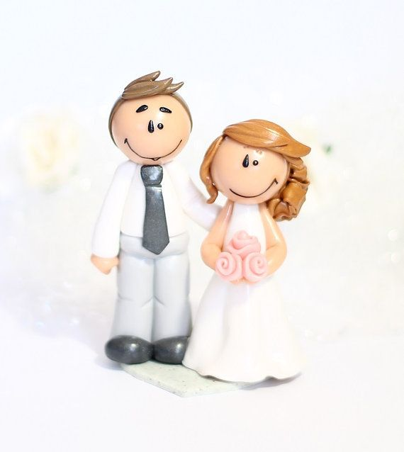 "Mini figurine de mariage ""Anna"" wedding cake topper"
