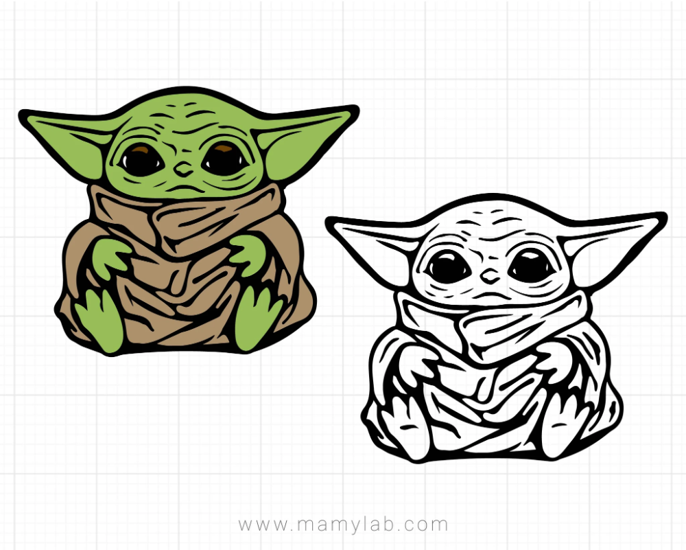 Baby Yoda Svg Star Wars The Mandalorian Svg Little Jedi Yoda Mandalorian Baby Yoda Svg Vector Files Svg For Cricut Svg For Silhouette In 2020 Star Wars Diy Star Wars Silhouette