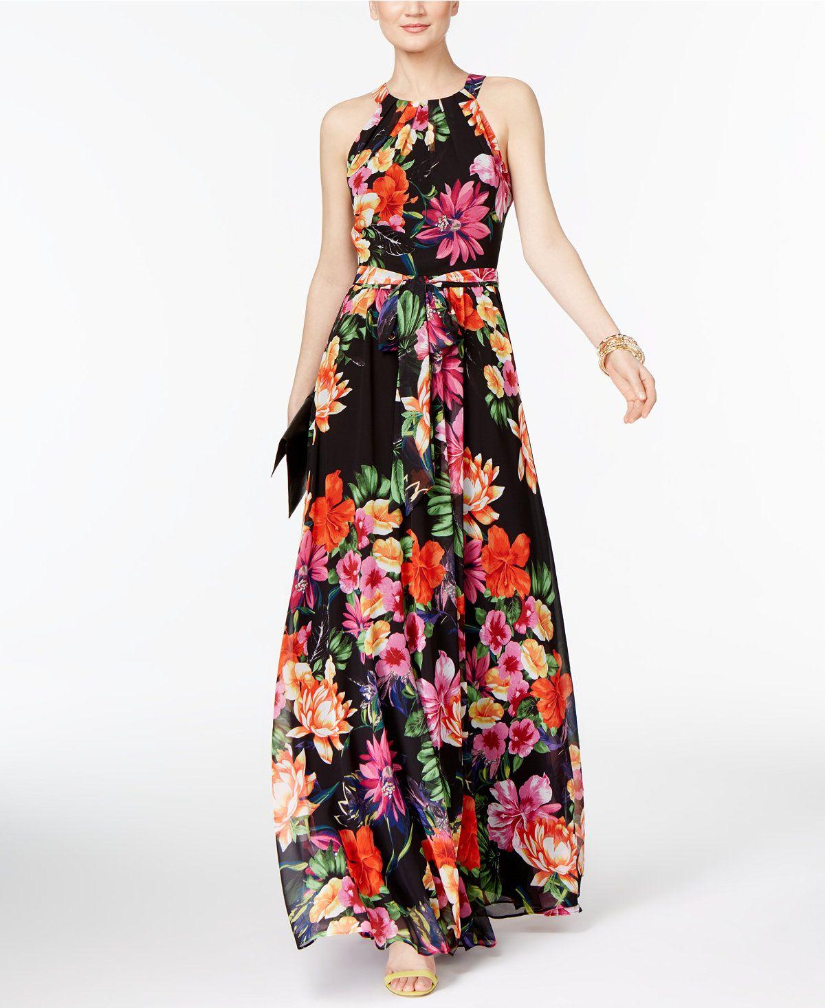 Inc International Concepts Floral Print Maxi Dress Only At Macy S Dresses Women Macy S Maxi Dress Floral Print Maxi Dress Macy Dresses