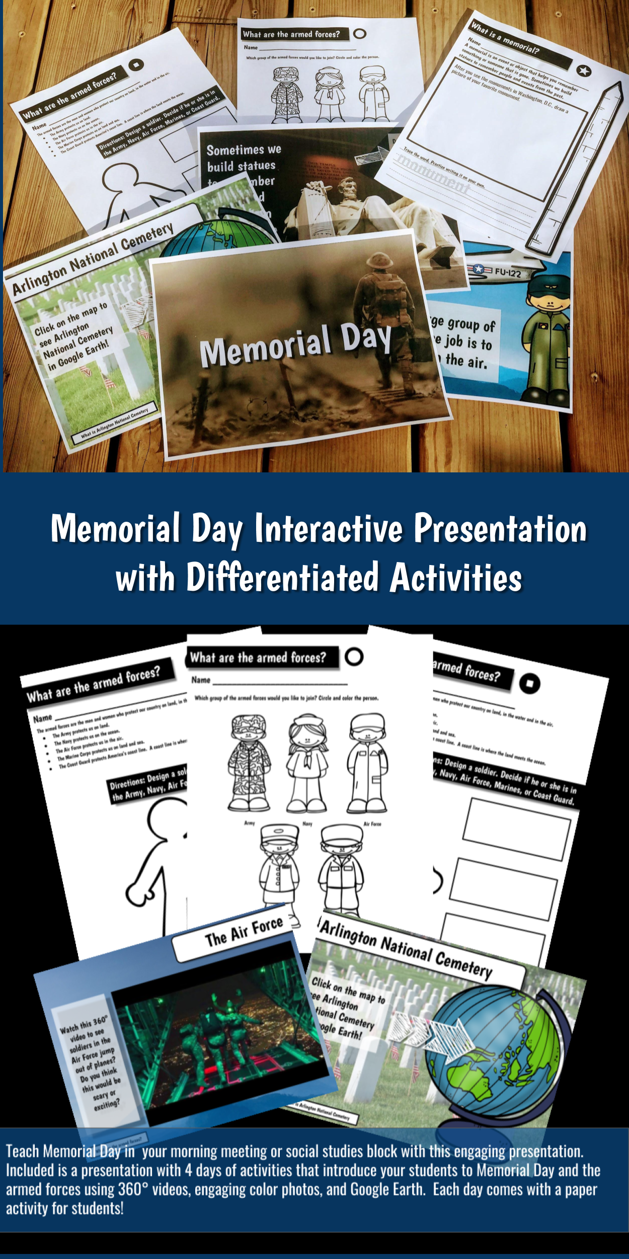 Memorial Day Interactive Presentation And Activities