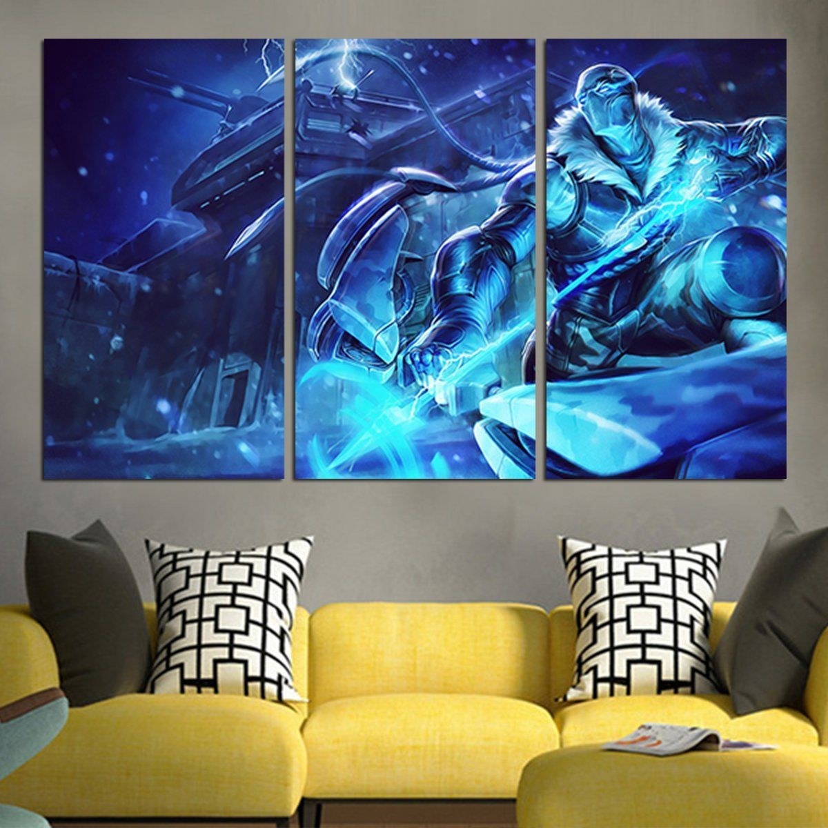 5 Pieces Hd Printing Canvas Painting League Of Legends Sona Dj Canvas Painting Painting Wall Art Canvas Prints