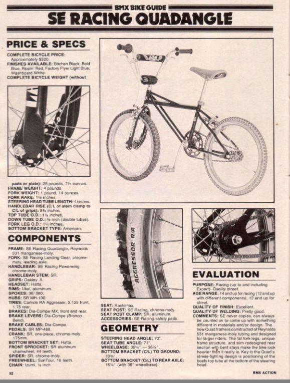 Old School BMX DIAMOND BACK Pad Re Made Sets frame handlebar stem blue