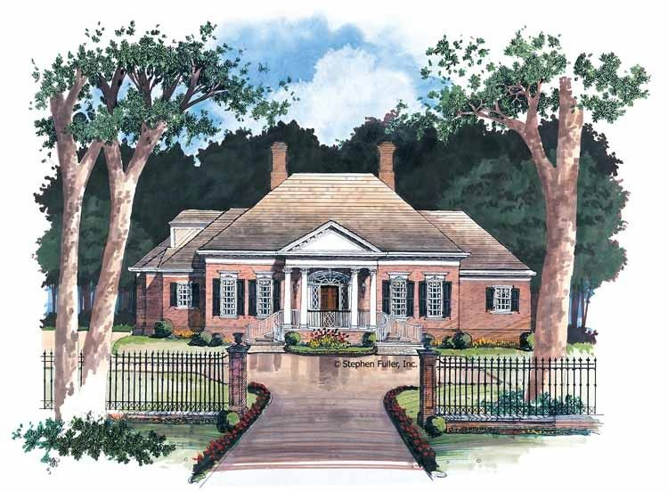 Colonial Style House Plan 3 Beds 2 5 Baths 2697 Sq Ft Plan 429 5 One Level House Plans Federal Style House House Plans
