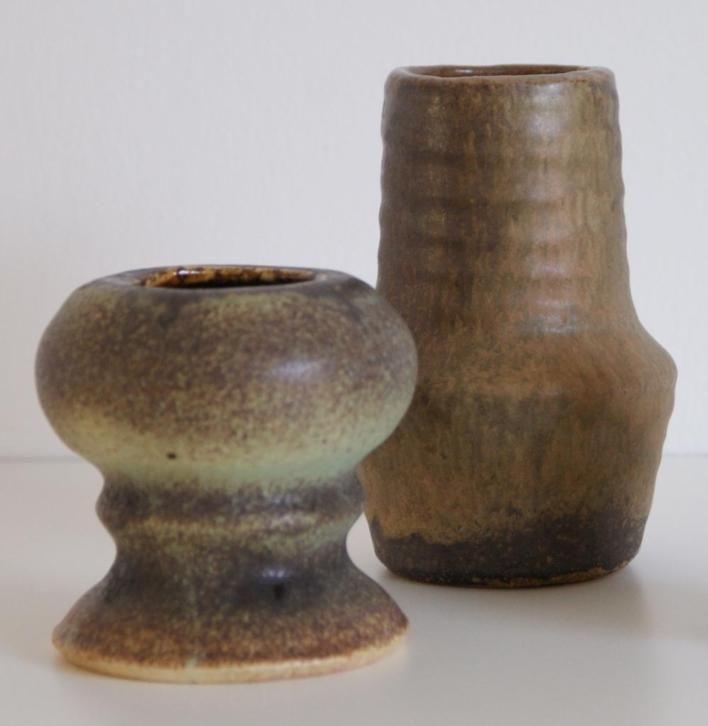 Vest Gouda vases, 13 cm and 8,5 cm height