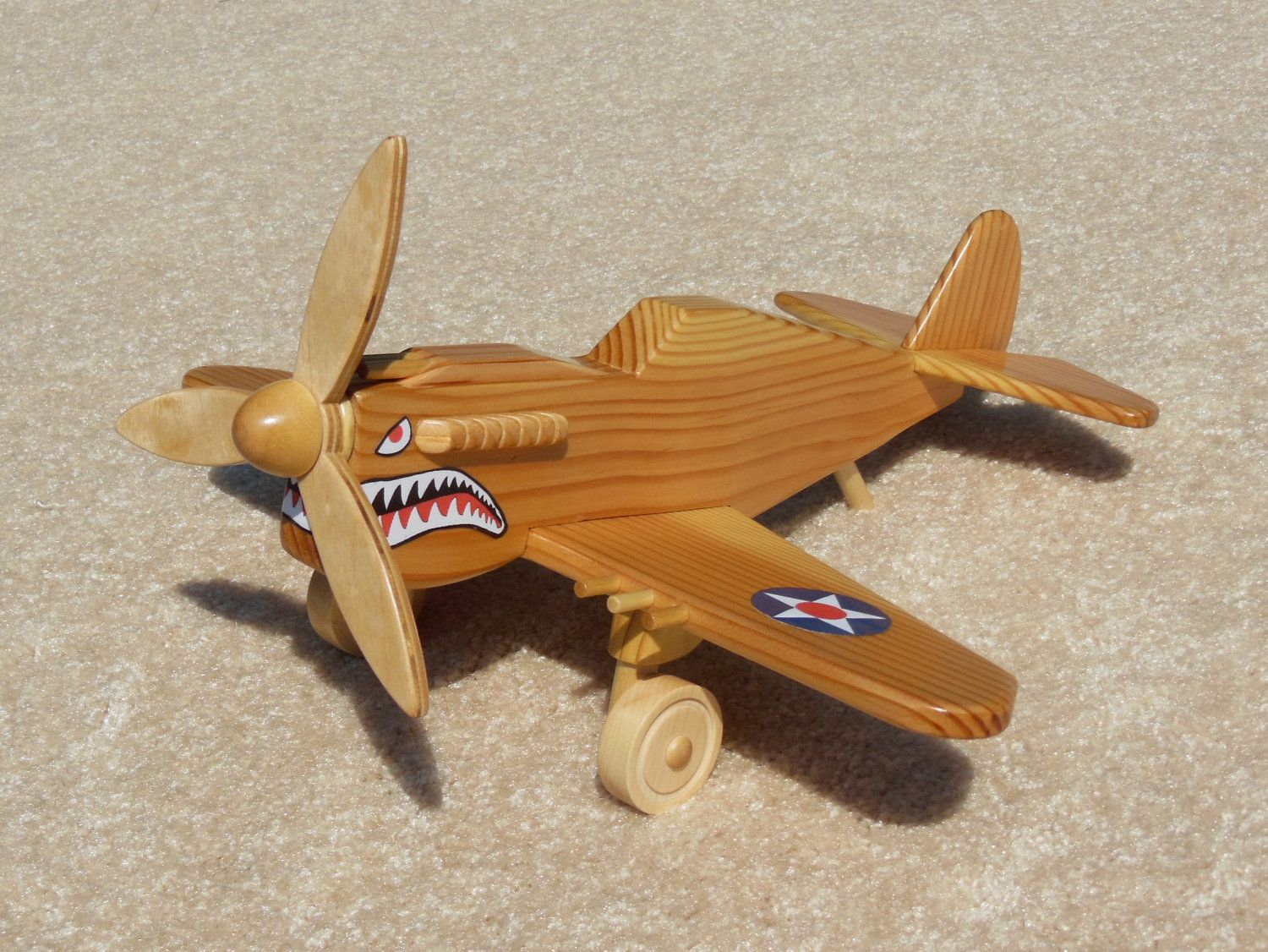 Wooden P-40 Fighter \'Flying Tiger\' Toy Plane   Handmade Wooden Toys ...