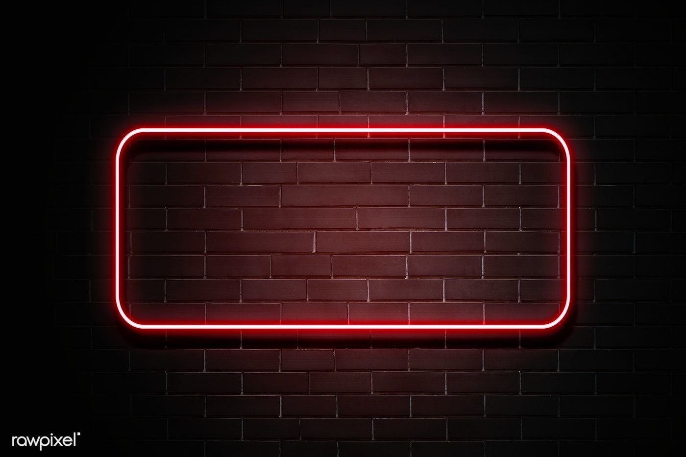 Download Premium Psd Of Neon Red Banner On A Wall 894322 Youtube Banner Backgrounds Youtube Banner Design Neon
