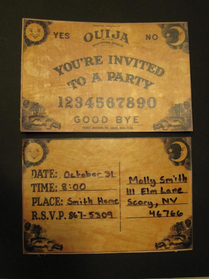Ouija Board Halloween party invitation | Occult | Pinterest ...