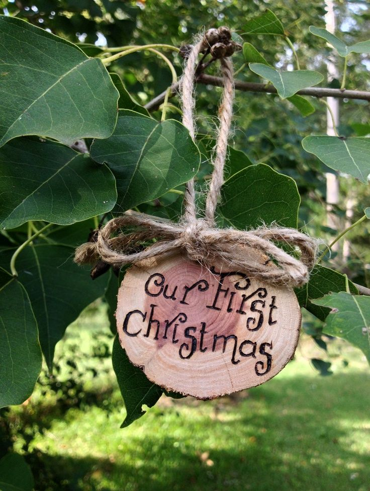 Rustic Wood Christmas Ornaments Personalized Rustic Christmas
