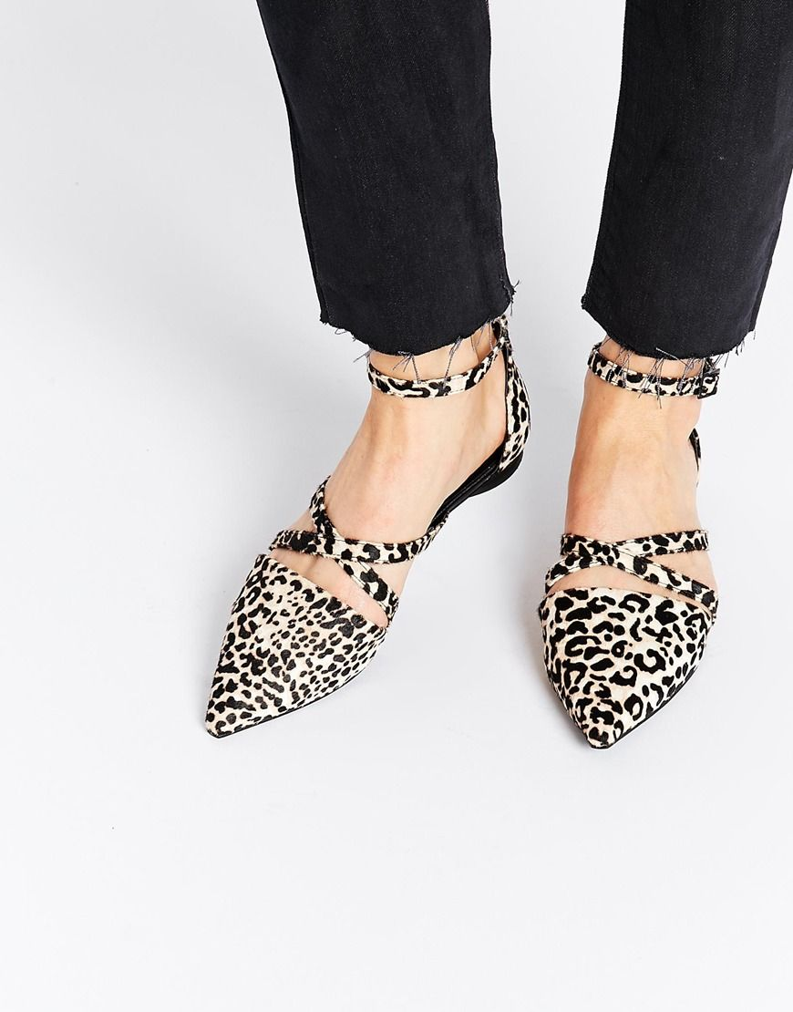 Image 1 of Senso Gabriel Pony Leopard Flat Shoes