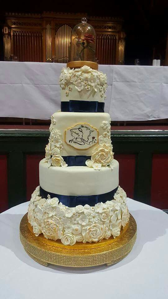 Beauty And The Beast Wedding Cake By Mandy With Images Beauty