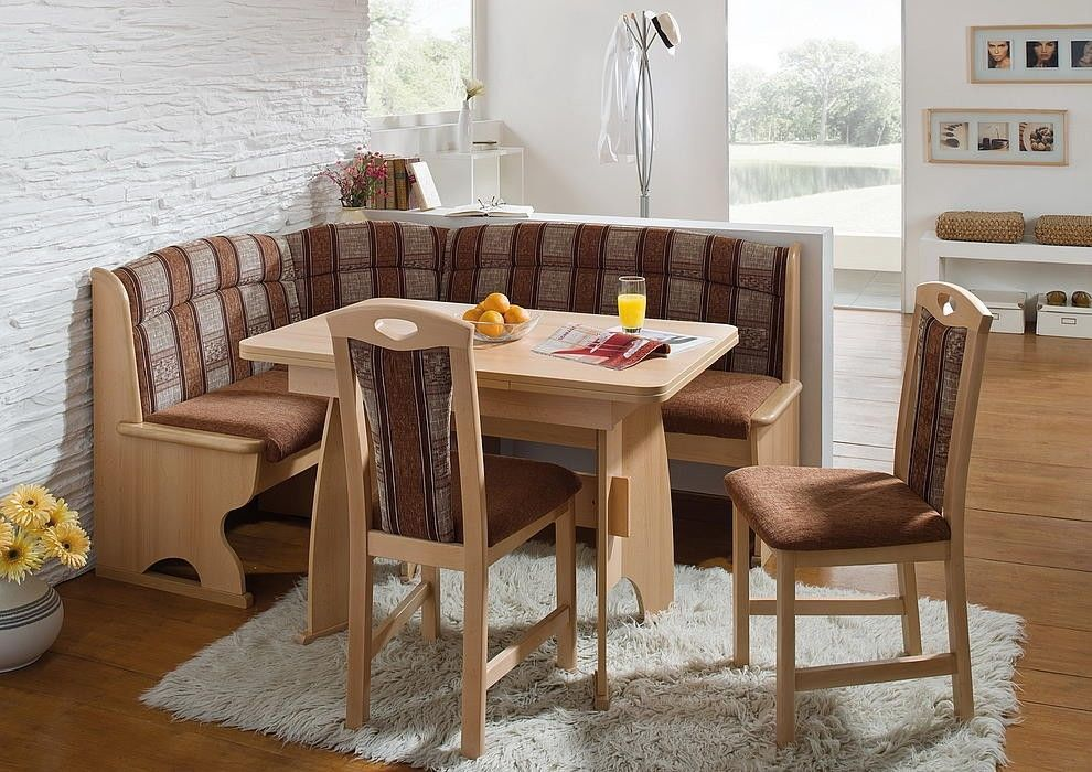 Luzern Dining Set Corner Bench Kitchen Booth Nook Expandable Table Chairs
