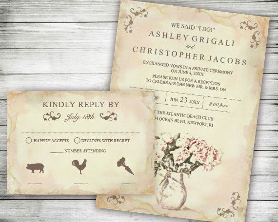 elopement wedding reception only invites we said i by vginvites