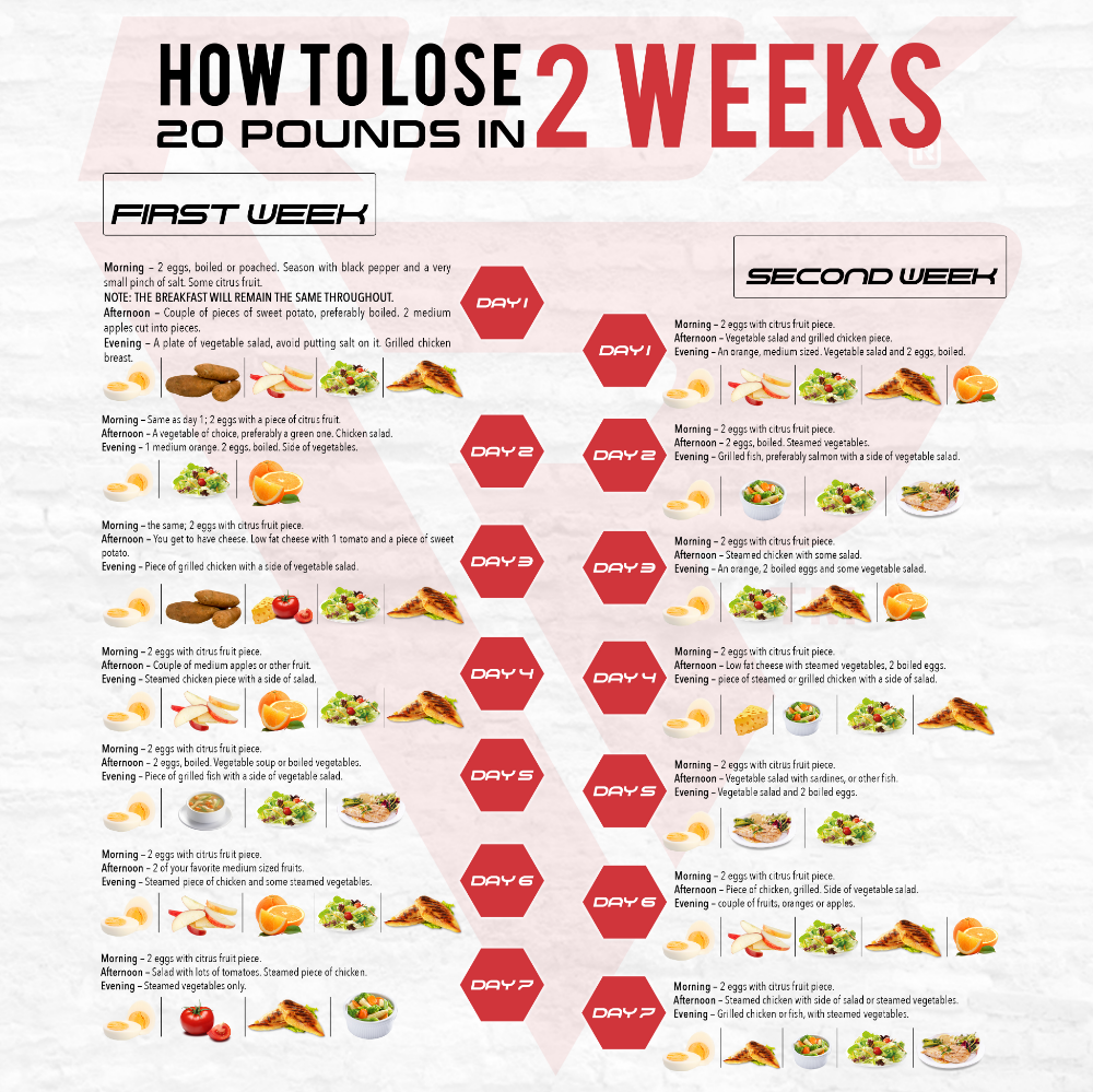 A healthy Diet Plan to Lose 20 Pounds in 2 Weeks | RDX Sports Blog